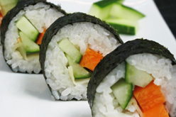 Mixed vegetable Maki sushi