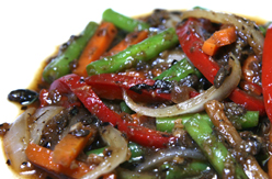 Stir fried mixed vegetable with Black bean sauce